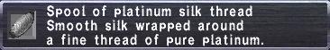 Platinum silk thread