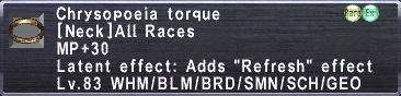 Chrysopoeia-torque