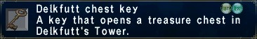 Delkfutt chest key