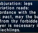 Martial Abjuration: Legs