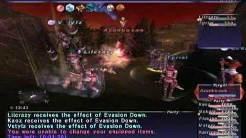 FFXI NM Saga 215 Asanbosam NM (Full Battle)