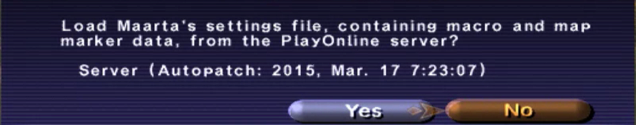 Settings file load