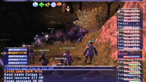 FFXI NM Saga 234 Sedna NM Full Battle