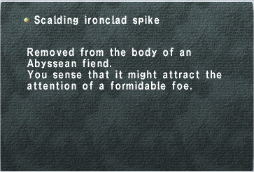 Scalding Ironclad Spike