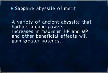 Sapphire abbysite merit