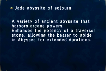 Jade Abyssite of Sojourn