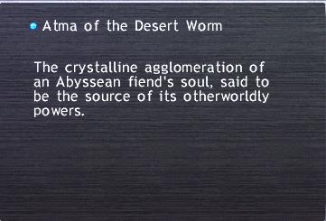 Atma of the Desert Worm