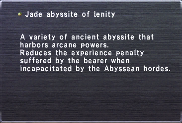 Jade abyssite of lenity