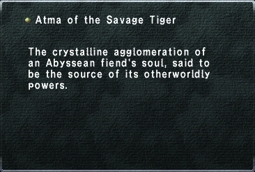 Atma of the Savage Tiger
