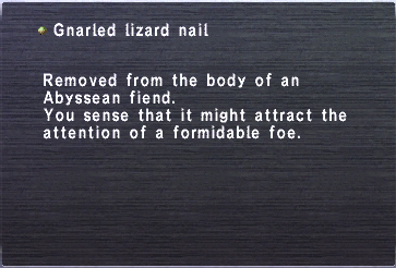 Gnarled Lizard Nail