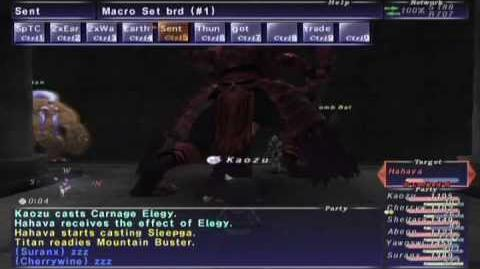 FFXI NM Saga 368 Hahava (Voidwatch NM) Full Battle