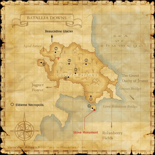 batallia downs ffxiclopedia fandom powered by wikia FFXI World Map ffxi field manual locations