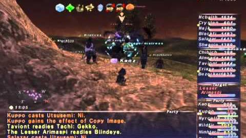 FFXI NM Saga 219 Arimaspi NM Full Battle