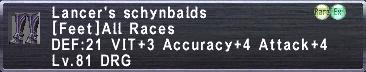 Lancer's Schynbalds