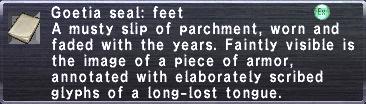 Goetia Seal Feet