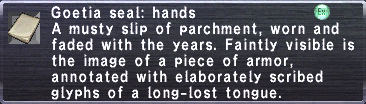 Goetia seal hands