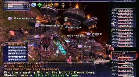 FFXI NM Saga 224 Ironclad Executioner NM Full Battle