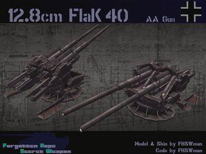 128cm Flakzwilling 40
