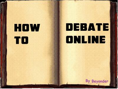 How to Debate Online