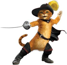 A puss in boots character