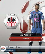 Ajaccio away
