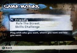 FIFA Street 2 Game Modes Friendly