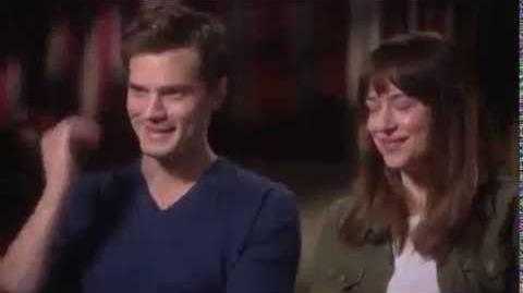 """Jamie Dornan & Dakota """"Fluffer"""" - Interview on the set of FSOG"""