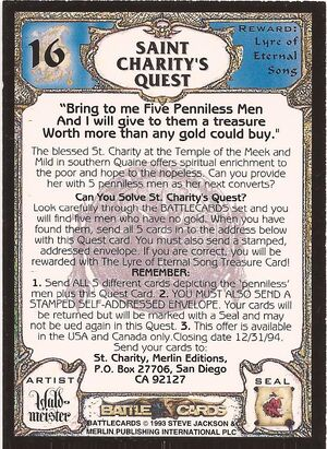 16 Saint Charity's quest US back