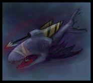 BEAST VampiricHarpoonShark by pseudolonewolf