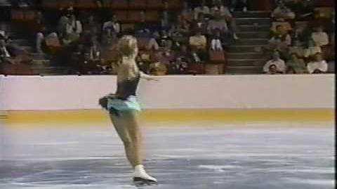 Claudia Leistner (FRG) - 1988 Skate America, Ladies' Free Skate