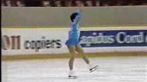 Cindy Bortz (USA) - 1987 World Junior Figure Skating Championships, Ladies' Long Program