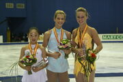 2008-2009 JGPF Ladies Podium