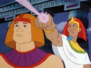 High Priest calls on the spirit of the Spynx Beam