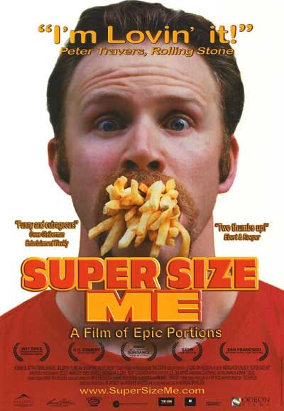 fast food nation vs. super size me essay Need it for my essay writing about supersize me the movie and fast food nation i am terrible writing thesis need help bad.