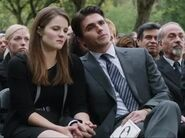 Candice and Peter at the funeral