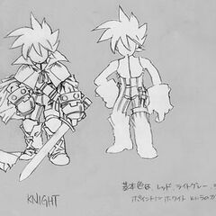 Early concept of a knight for <i><a href=