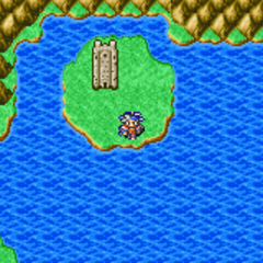 Mysidian Tower on the World Map (GBA).