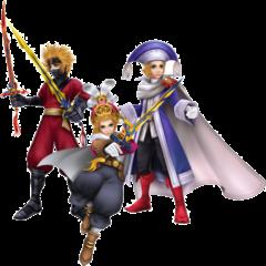 Модели Лукового Рыцаря в Костюме Ингуса в <i>Dissidia 012 Final Fantasy</i>.