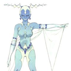 Наброски Шивы, выполненные Акирой Огуро для DS-версии <i>Final Fantasy IV</i>.