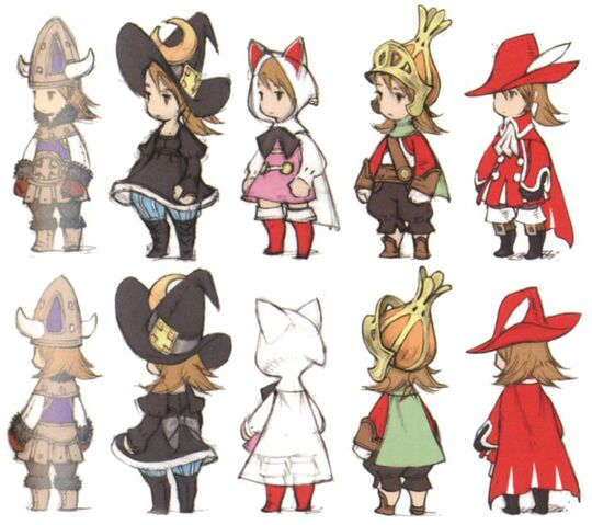 Anime Character Design Career : Image ffiii ds jobs concept art g final fantasy
