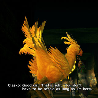 Clasko and the Amazing Chocobo in the Ruin Depths.