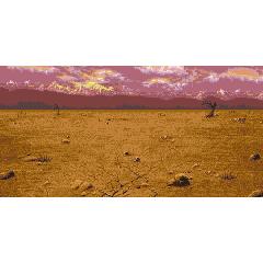 Battle background (World of Ruin) (GBA).