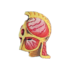 Concept art Flame Helm from <i>Final Fantasy II</i>.