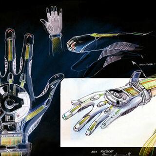 Concept of the Hologlove, a precursor to the Wrist Halo.