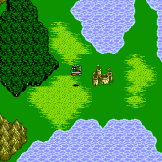 Castle Argus on the World Map (NES).