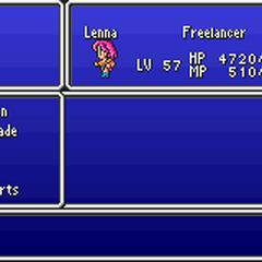 The Magic menu in the GBA version.