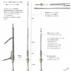 Concept artwork of Jihl's baton.