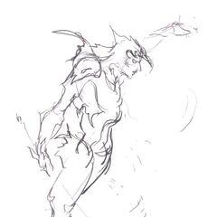 Another sketch by Yoshitaka Amano.