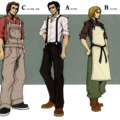 Nibelheim villagers in <i>Crisis Core -Final Fantasy VII-</i>.