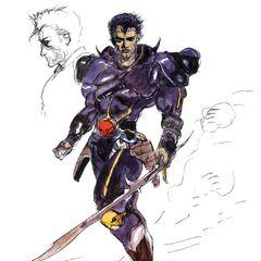 Artwork of the Dark Knight Leon in <i><a href=